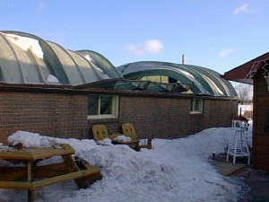 Retractable roof collapsed due to wind and snowload