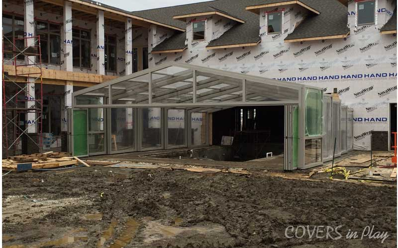 Retractable Commercial Pool Enclosure