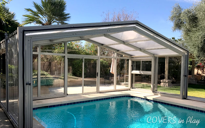 Single Peak Pool Enclosure