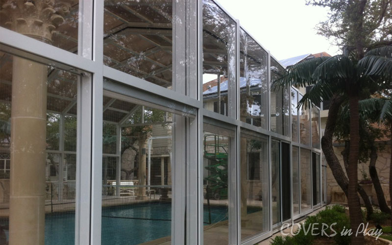 Two storey Retractable Pool Enclosure