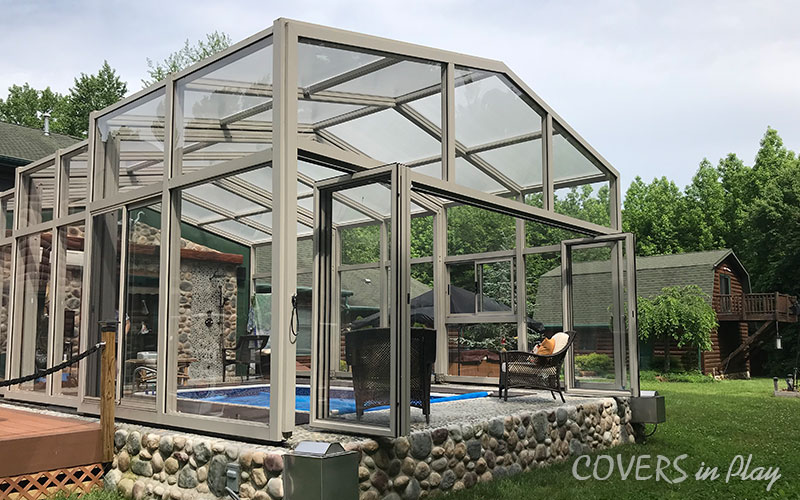 Trent New Jersey Pool Enclosure bi fold doors