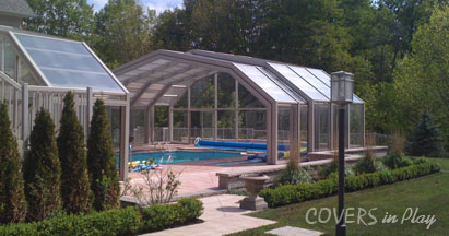 Retractable Pool Enclosures   Opens with a push of a button   Pool ...