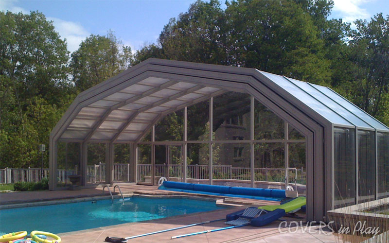 Retractable Pool Enclosure Open ...