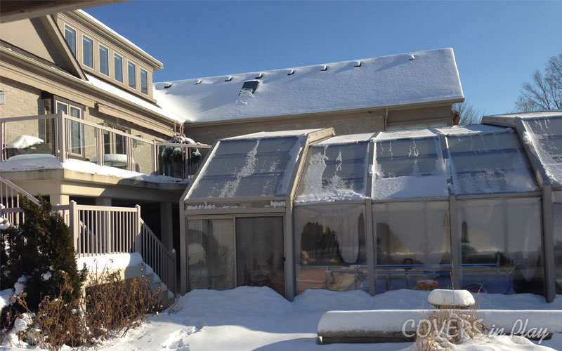 Snow Covered Pool Enclosure